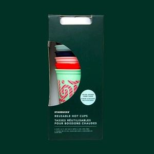 Starbucks color change 6 holiday reusable hot cups